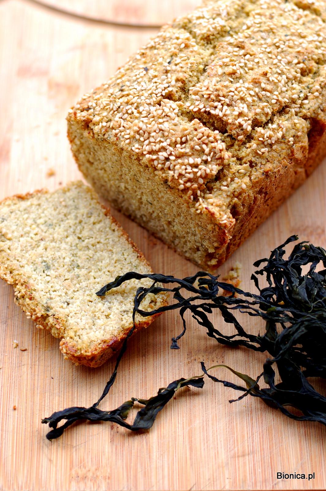 chleb bezglutenowy z glonami morskimi