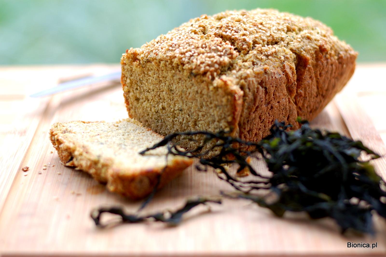 odchudzjący chleb bez glutenu z algami morskimi